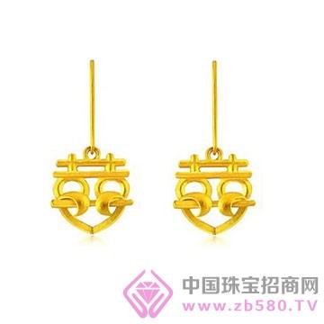 贵玲珑珠宝-黄金耳钉