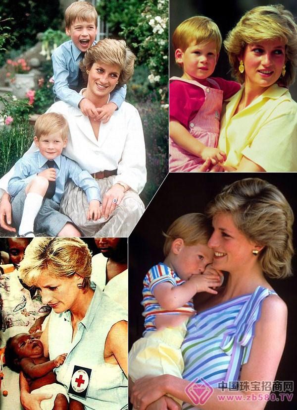 母亲的珠宝永远都不是奢华而是最珍贵!戴安娜王妃 ( )