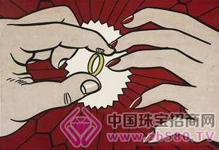 李奇登斯坦《戒指(订婚)》由香港私人藏家以4