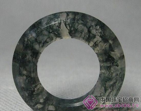 战国水草玛瑙环