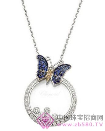 萧邦happy diamonds系列-蝴蝶项链,型号:799464-1003