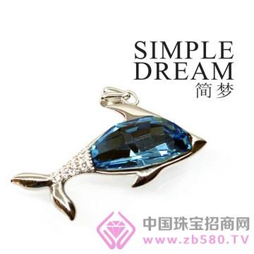 简梦饰品-镶宝石银坠13