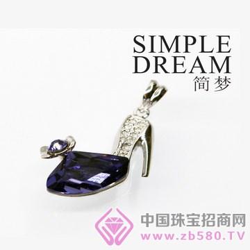 简梦饰品-镶宝石银坠14