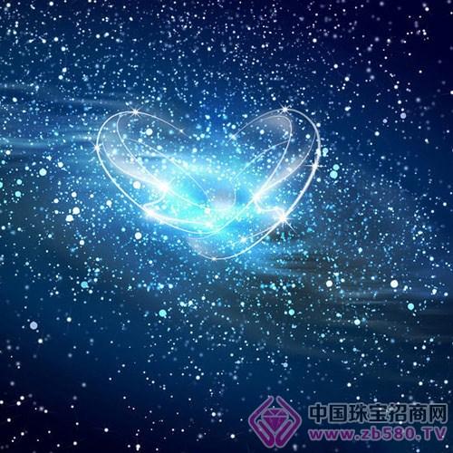 纯浅蓝色的星星壁纸