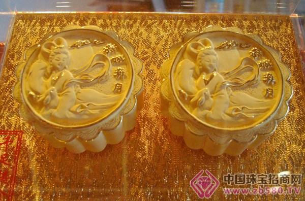 黄金月饼亮相山西太原