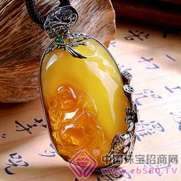 逸源珠宝-中式绳艺琥珀挂件