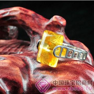 盛坤���H珠��-琥珀戒指01