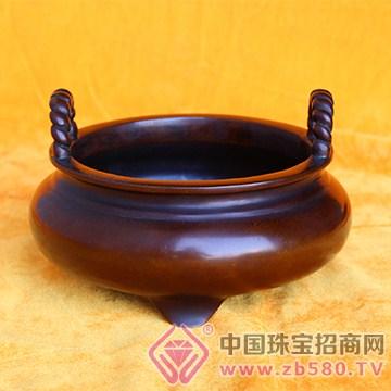 汇安沉香紫铜炉1