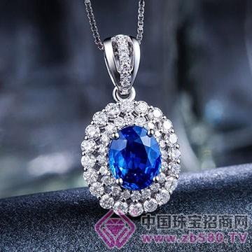 蓝晶灵-蓝宝石吊坠01