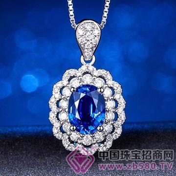 蓝晶灵-蓝宝石吊坠02