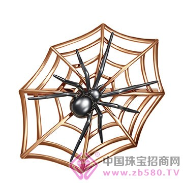"""ADK""""Special spider""""系列K金胸针"""