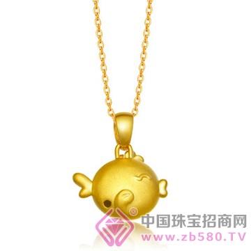 中国金楼-黄金吊坠09