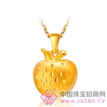 中国金楼-黄金吊坠10