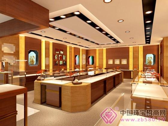河南郑州黄金珠宝银饰翡翠玉器店面装修柜台设计