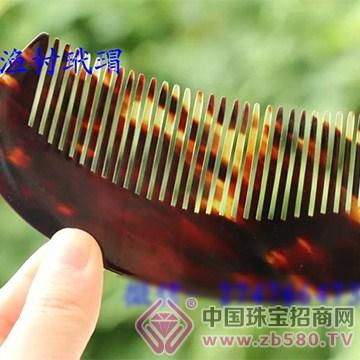 北海�O村玳瑁梳子1