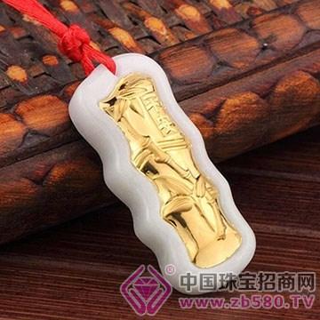 三喜珠宝金镶玉挂件12