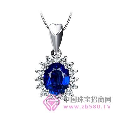 金喜缘-蓝宝石吊坠