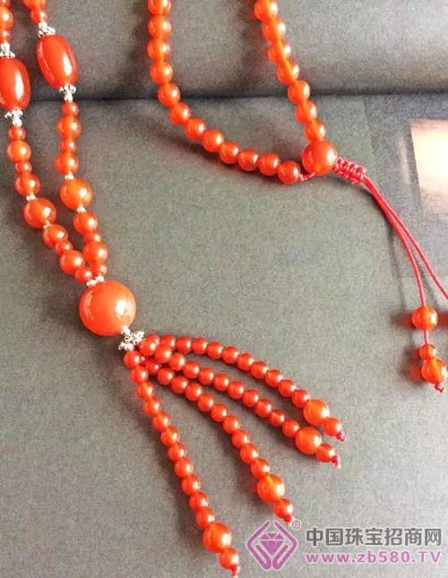 红玛瑙毛衣链