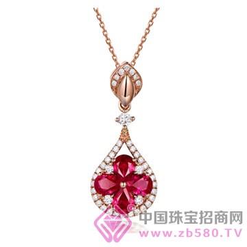 米莱珠宝-红宝石吊坠01