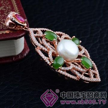 鸿钻珠宝-银镶彩宝吊坠05