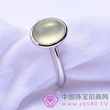 鸿钻珠宝-银镶彩宝戒指01