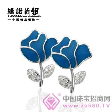 缘诺尚银-银925时尚耳饰之玫瑰之约