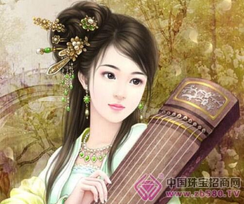 古代女子到了成年的时候就用笄将头发绾起图片