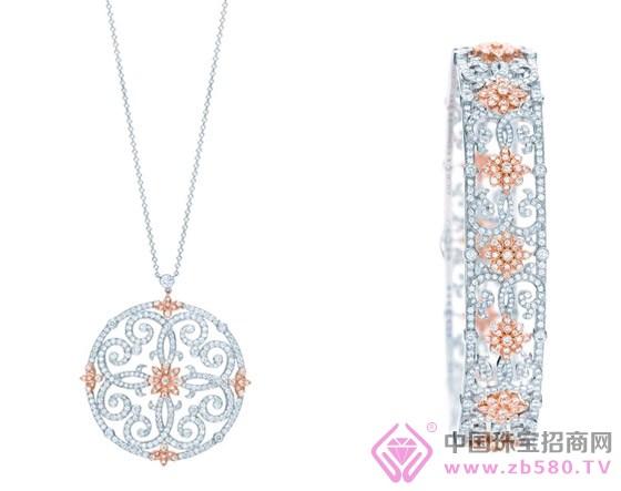 全新tiffany enchant珠宝系列漩涡花纹吊坠