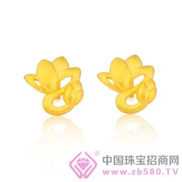 莲七珠宝-黄金耳钉01