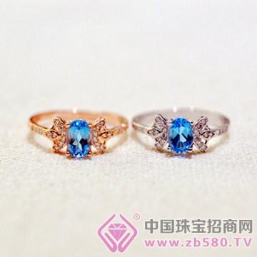 泰盛珠宝-白金托帕石戒指