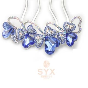 圣研熙-精美-蓝水晶发饰
