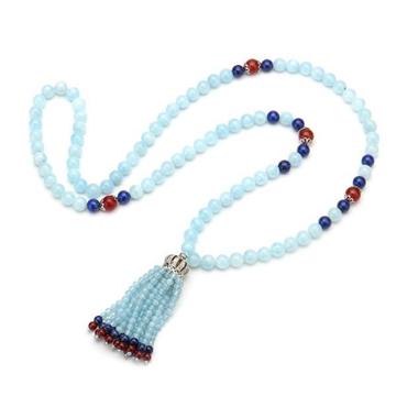 上好珠宝-海蓝宝毛衣链