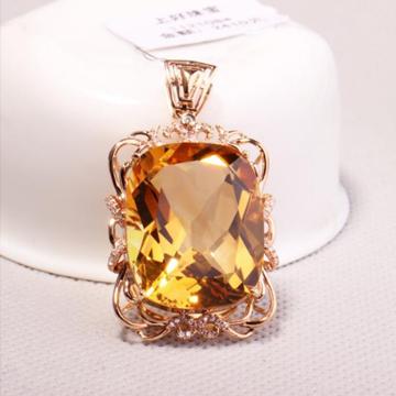 上好珠宝-黄水晶吊坠