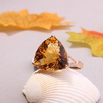 上好珠宝-黄水晶戒指