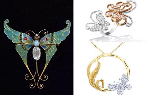 每个精致的蝴蝶或者蜻蜓 都是设计师对这件作品美好的寄托 不怕告诉