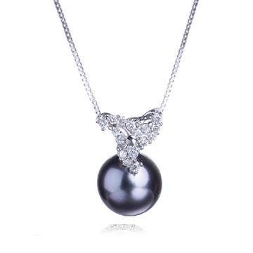 福瑞地-黑珍珠吊坠项链
