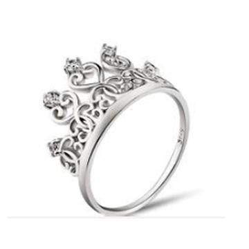 金世爱-女王皇冠纯银戒指