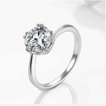 金世爱-镶钻纯银戒指
