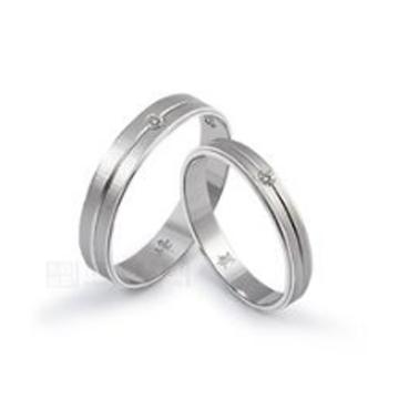 金世爱-镶钻纯银情侣戒指