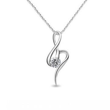 金世爱-镶钻银饰项链