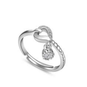 金世爱-心形纯银戒指