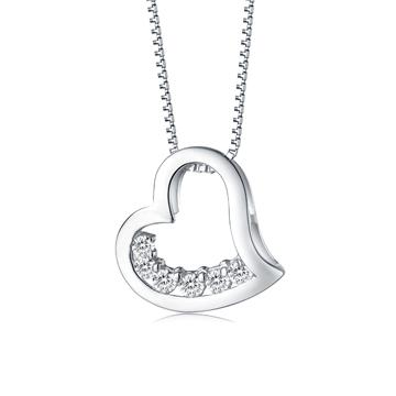 金世爱-心形银饰项链