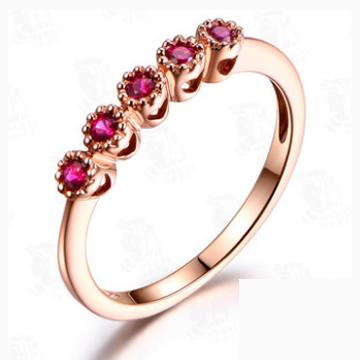 福丰泰-天然红宝石戒指