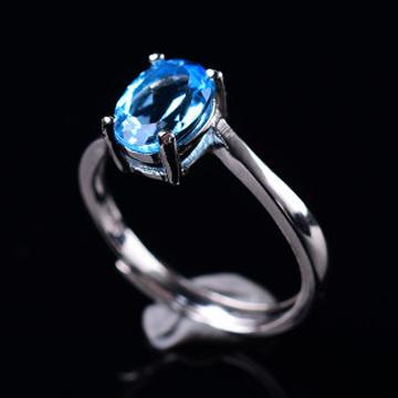 福�S泰-天然水晶托帕石戒指