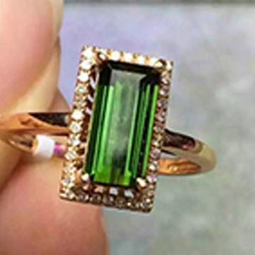 晶翠珠��-精品�嵌��石戒指