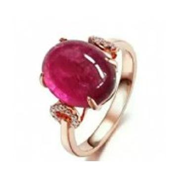 晶翠珠��-�嵌�t色��石戒指