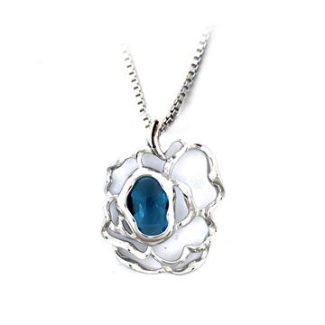 嘉尼银饰-镶嵌宝石银饰吊坠