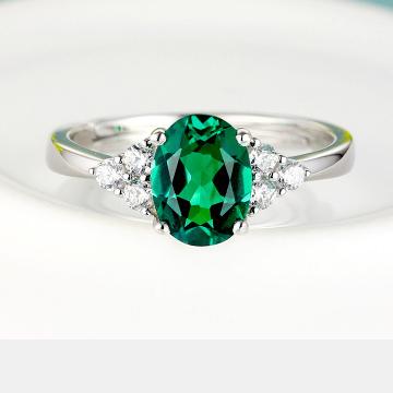克拉之星-韩版祖母绿宝石戒指