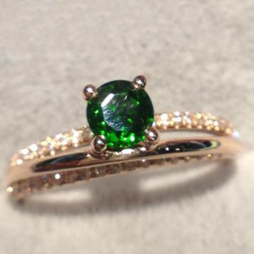 克拉之星-流星款天然透辉石戒指