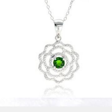 克拉之星-优雅西伯利亚祖母绿吊坠